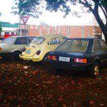 VW Voyage, VW Fusca e Ford Escort