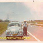 VW Fusca, na Free Way, RS, foto do acervo pessoal da amiga Elisete Dutra